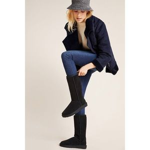 UGG // Classic tall black leather suede boot SZ 9